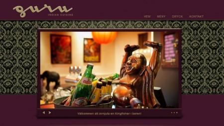 Webbplats för Guru – indisk restaurang
