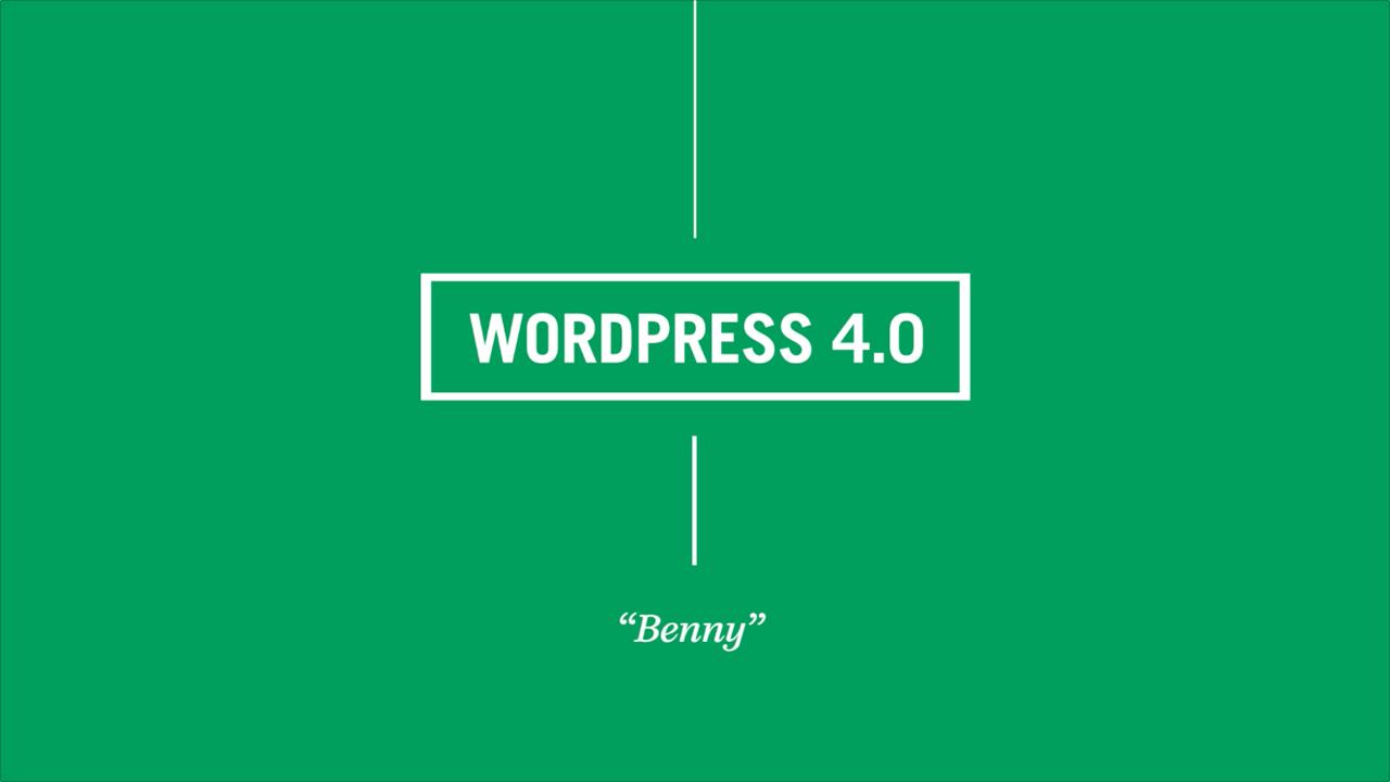 WordPress 4.0 är här – Välkommen Benny!